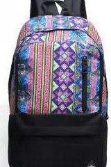 Retro Casual Backpack Color Blue