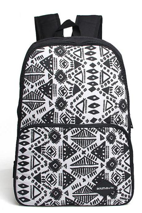 Geometry Printed Retro Casual Backpack