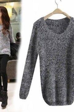 Women's Vougoe Cardigan Long Sleeve R-Collar Mohair Casual Loose Coat Sweater