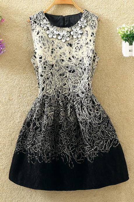 Sexy Stylish Embroidery Lovely Dress With Beadings, Cute Embroidery Dress For Winter, Women Dresses