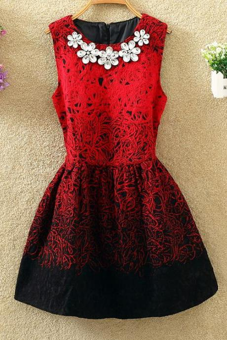 new fashion Sexy Stylish Embroidery Lovely Dress With Beadings, Cute Embroidery Dress For Winter, Women Dresses