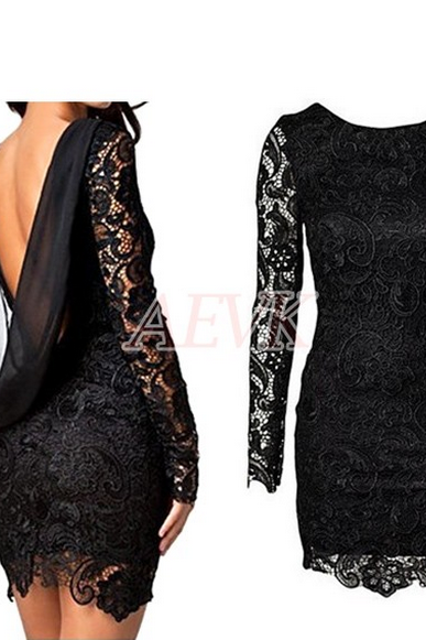 Lace Designs Dresses Backless New Fashion Women Bandage Dress Mini Black&Red Bodycon Dress Party Sexy Women Dresses