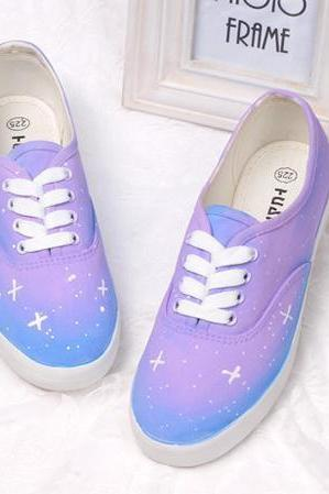 Harajuku Wind Gradient Star Canvas Shoes