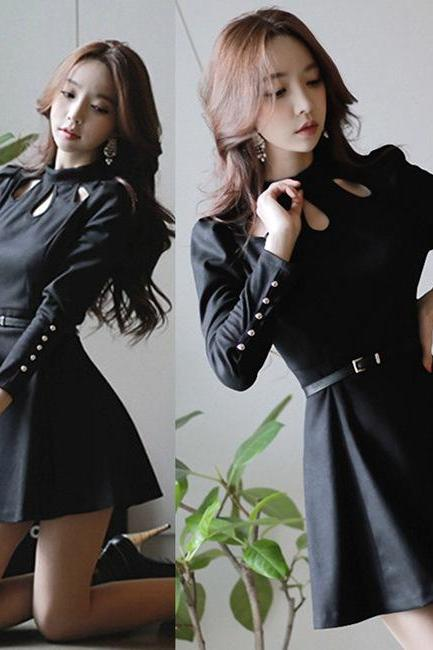 2015 new fashion Sexy Hollow Out Dress