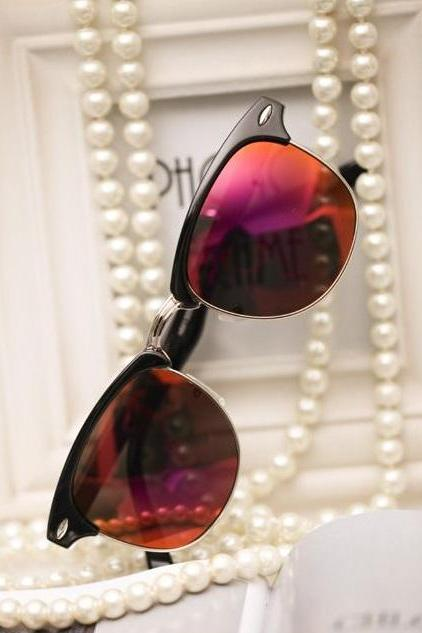 Beach Party Cat Eye Red Lenses Unisex Sunglasses