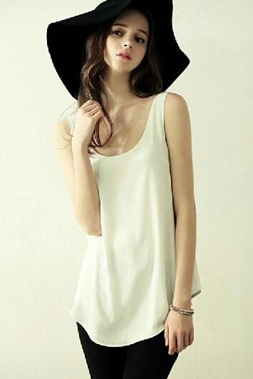 Sleeveless halter word vest