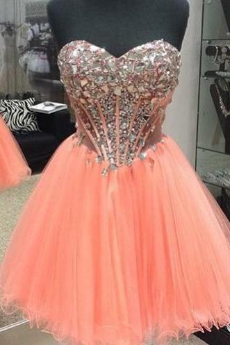 Custom Made A Line Sweetheart Neck Short Prom Dresses, Formal Dresses, Evening Dresses