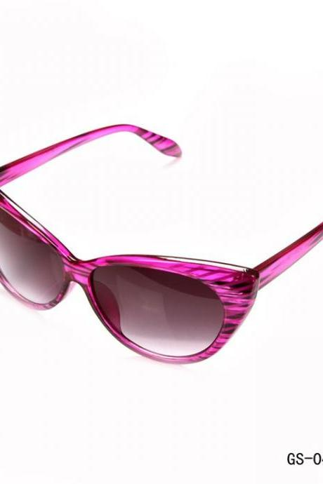 Cat eye summer fashion woman purple sunglasses