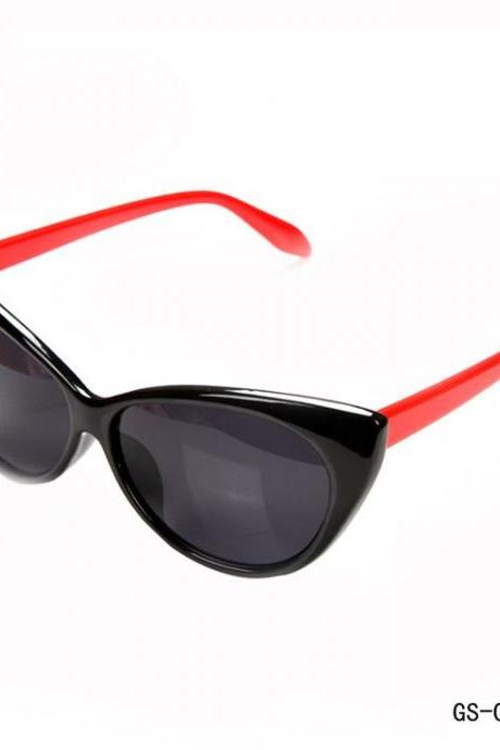 Cat eye summer fashion woman black-red sunglasses