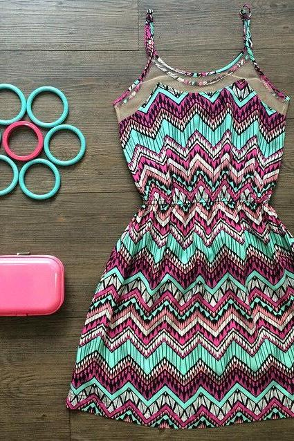 Fashion O-Neck Sleeveless Dress TRV29AS
