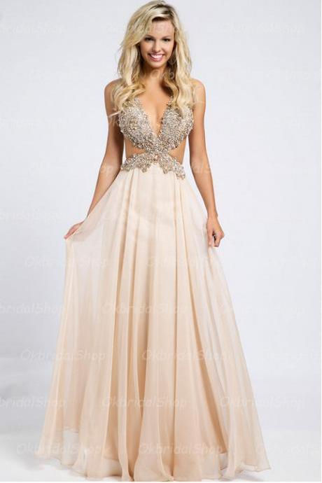sexy backless prom dresses, pink backless prom dresses, prom dresses on sale, chiffon prom dress, cheap prom dresses, dresses or prom, 2015 prom dress, CM125