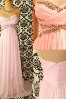Custom Made A Line Sweetheart Neck Long Prom Dresses, Formal Dresses, Evening Dresses