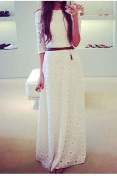 on sale FASHION LONG LACE DRESS