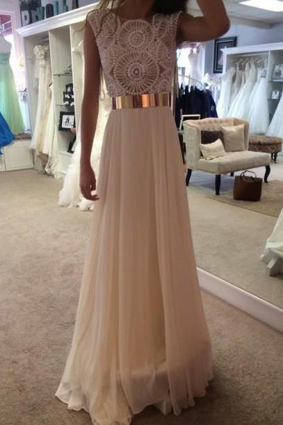 Custom Made A Line Round Neck Long Prom Dresses, Long Formal Dresses, Long Evening Dresses