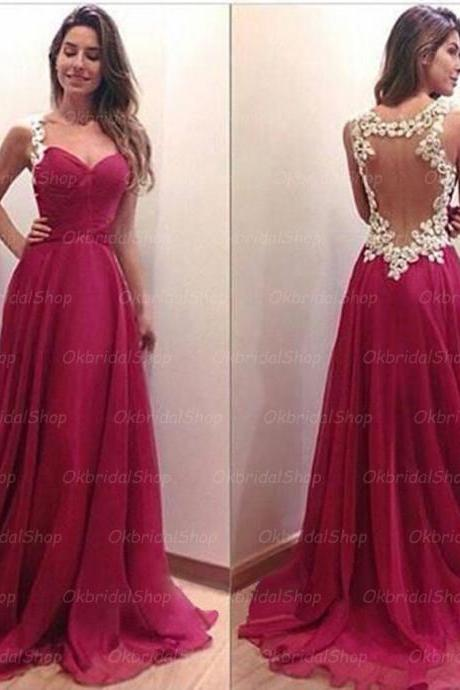 red backless prom dresses, sexy prom dress, backless prom dresses, chiffon prom dresses, 2015 prom dresses, long prom dresses, dresses for prom, CM135