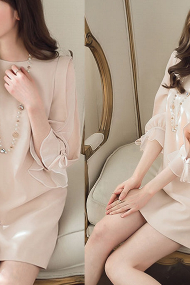 Sweet chiffon dress fashion