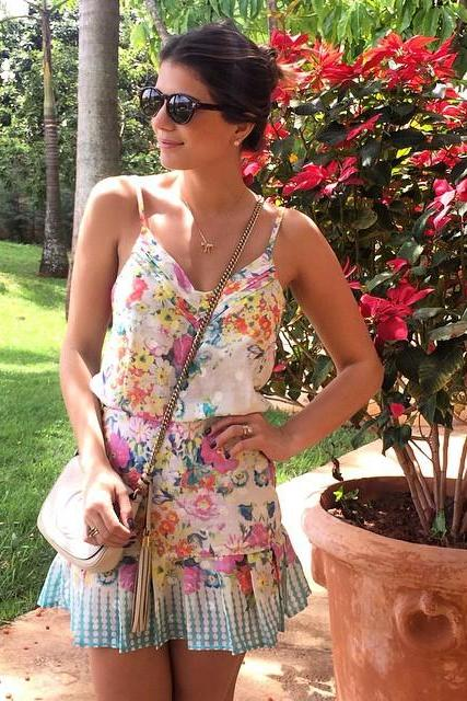 Fashion sleeveless print dress KMS71RT