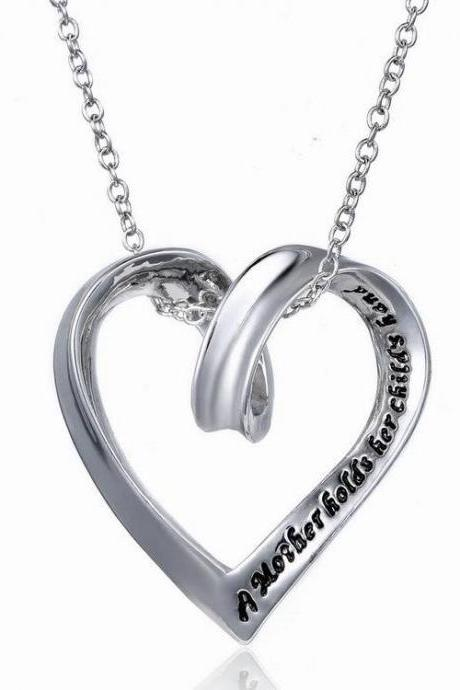 Mother's Day Gift Love Heart Pendant Necklace