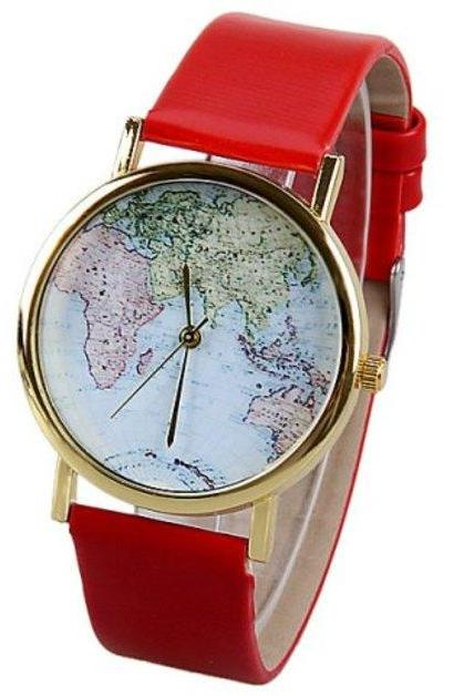 map watch, map leather watch, leather watch, bracelet watch, vintage watch, retro watch, woman watch, lady watch, girl watch, unisex watch, AP00018