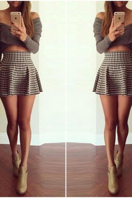 Cute Two Piece A Line Mini Dress DR
