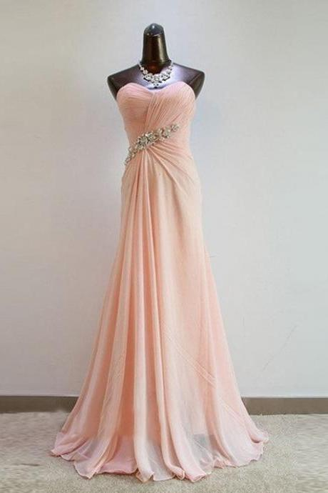 Pretty Light Pink Sweetheart Prom Dresses2015, Bridesmaid Dresses 2015, Bridesmaid Dresses, Formal Dresses, Evening Dresses