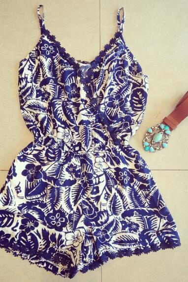 Sweet printing harness dress #WE40105PO