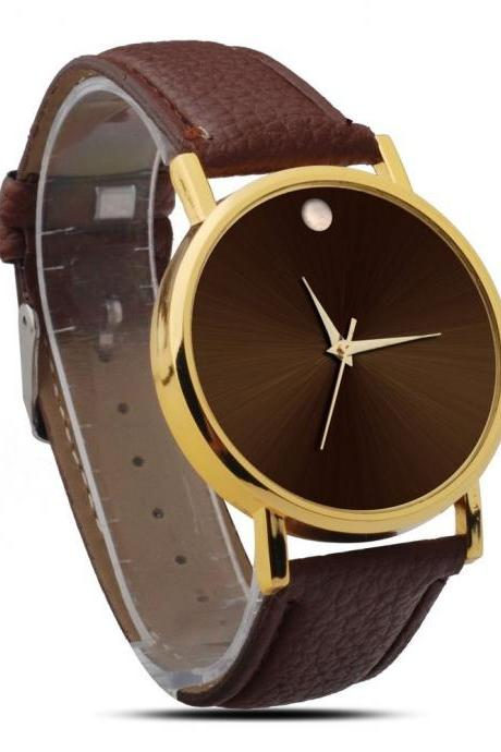 simple watch, dark brown leather watch, leather watch, bracelet watch, vintage watch, retro watch, woman watch, lady watch, girl watch, unisex watch, AP00050