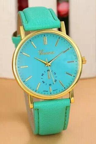 simple watch, mint leather watch, leather watch, bracelet watch, vintage watch, retro watch, woman watch, lady watch, girl watch, unisex watch, AP00053
