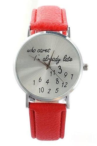 style watch, special watch, red watch, leather watch, bracelet watch, vintage watch, retro watch, woman watch, lady watch, girl watch, unisex watch, AP00061
