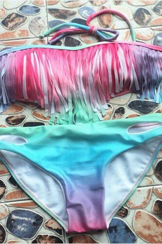 Gradient Fringed Swimsuit VC40121MN