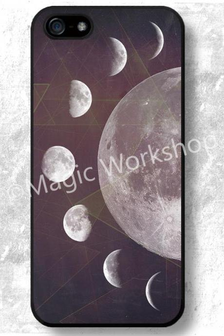 iPhone 4 4S 5 5S 5C 6 6 Plus case, iPhone 4 4S 5 5S 5C 6 6 Plus cover, Moon Phases Collage