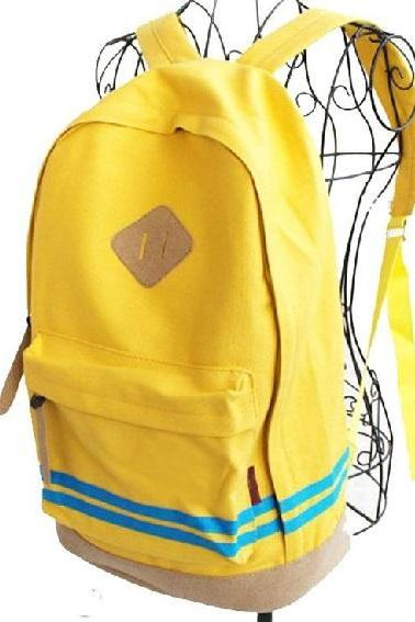 Travel school work special yellow girl backpack