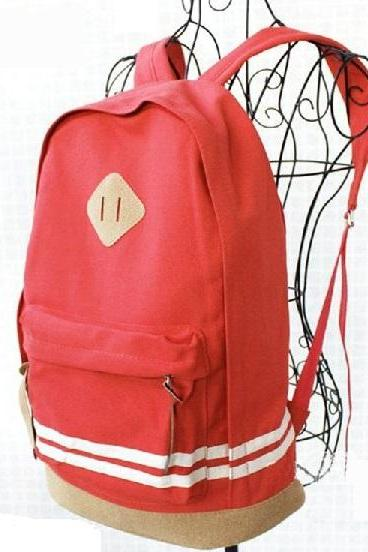 Travel school work special red girl backpack