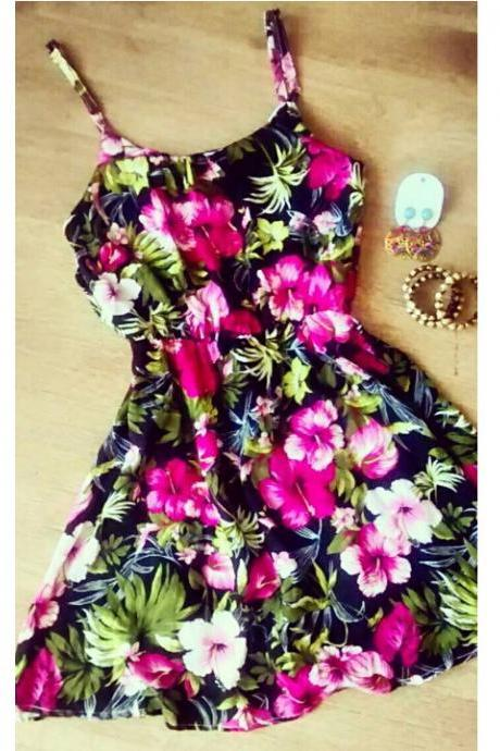 Fashion Sleeveless Print Dress RTY40202UH