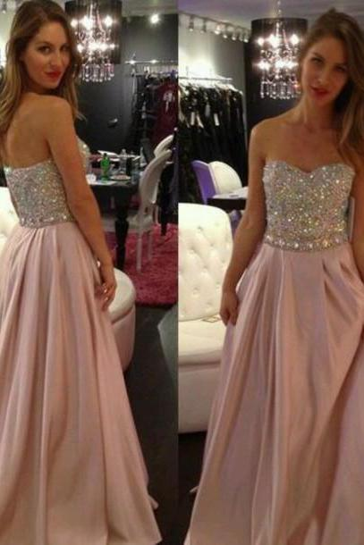Pd516 Charming Prom Dress,Sequined Prom Dress,a-Line Prom Dress,Strapless Prom Dress,Chiffon Prom Dress