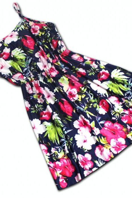 Fashion sleeveless print dress GJ40217KU