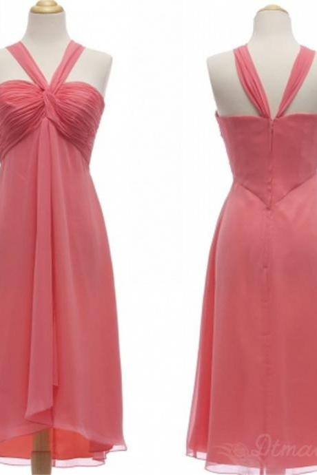 Chiffon Bridesmaid Dress Short Prom Dress Party Dresses Spd159