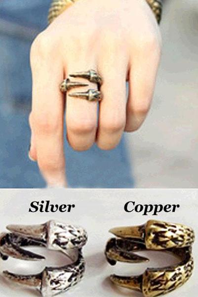 Cute Retro Claw Alloy Rings Jewelry