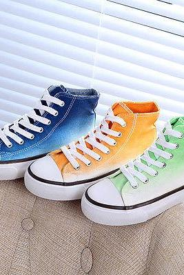 Womens New Canvas Flats Lace Up Casual High Top Sports Sneakers Athletic Shoes
