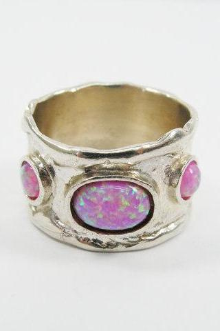 Pink Opal ring. sterling silver ring (3032). birthday gift for her, pink opal jewelry, romantic
