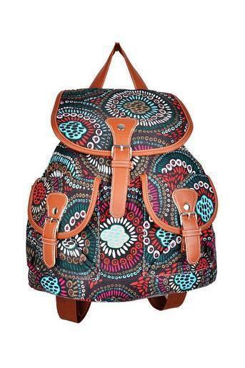 Hippie festival travel canvas girl backpack