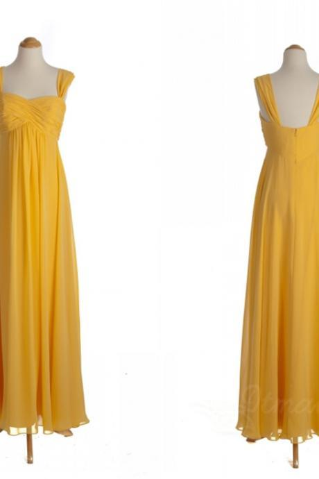 Straps Chiffon Bridesmaid Dress Evening Dresses Long Prom Dress Spd069