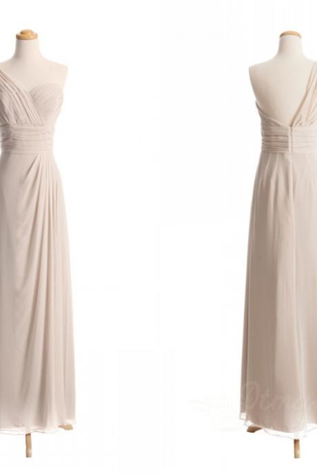 One Shoulder Chiffon Bridesmaid Dress Evening Dresses Long Prom Dress Party Dress Spd073
