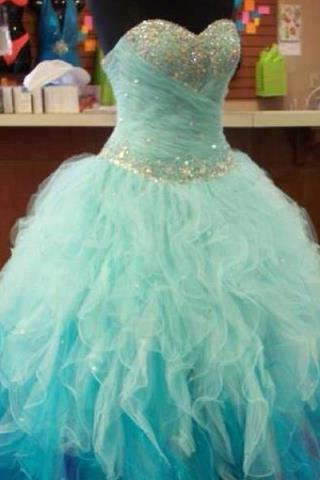 Custom Made Sweetheart Neckline Ball Gown Prom Dresses, Graduation Dresses