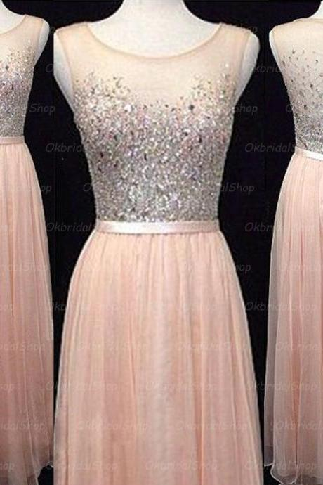 peach prom dresses, see through prom dress, sexy prom dresses, sequin prom dresses, 2015 prom dresses, sexy prom dresses, dresses for prom, CM220