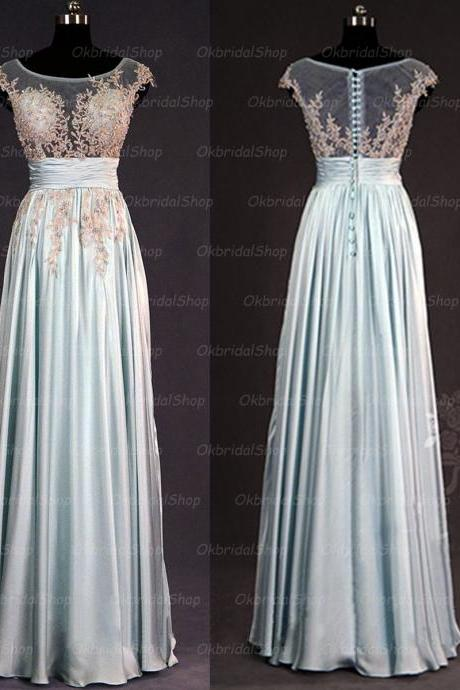 embroidery prom dresses, light blue prom dress, sexy prom dresses, chiffon prom dresses, 2015 prom dresses, sexy prom dresses, dresses for prom, CM223