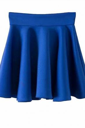 Stretch-Knit Medi A-Line Skirt