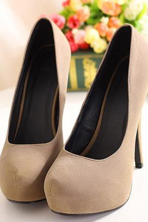 Stylish High Heels Apricot Pumps