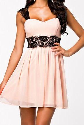 Fashion lace halter dress #WE40709PO