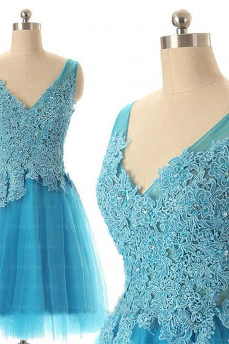 lace prom dresses, blue prom dress, sexy prom dresses, tulle prom dresses, 2015 prom dresses, sexy prom dresses, dresses for prom, CM254